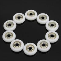 Wholesale 10pcs mm Nylon Plastic Carbon Steel Bearings Pulley Wheels Embedded Groove Ball Bearings
