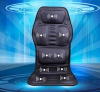 vibrating car seat cushions - Heated Back Massage Seat Topper Car Home Office Seat Massager Heat Vibrate Cushion Back Neck Chair Car Pain An Plug Adapter