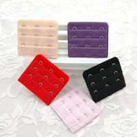 Wholesale for Useful Ladies Rows Hooks Bra Strap Long Extender Hook Clip Nude Adjustable Belt Buckle with multi color DHL Free