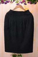 angora free - 2016 fashion black spring ladies Women Casual Skirt sexy straight warm angora fluffy rabbit fur Skirts Midi knitted sweater Skirt