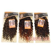 best synthetic hair weave - 6PCS Noble Gold GB Crystal quot Curly Synthetic Hair Extensions Two tone Ombre Hair Weaving Weft Queen Hair Products Best Weave
