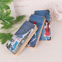 aa japan - New Arrival Mens And Women High Quality Leather Wallet Printed cartoon characters Pockets Card Clutch Cente Bifold Purse Coin Holder AA