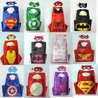 batman animals - 76design Superhero Star Wars Turtles Cape Mask L70 W70CM Double Side batman spiderman Reversible Superhero Cape supergirl cape mask set