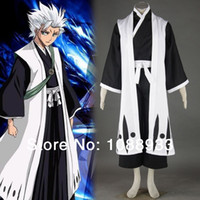 Wholesale Japanese Anime cosplay Bleach th Division Captain Toshiro Hitsugaya adult party Halloween Costumes for men Custom