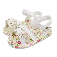 Wholesale Unique White Baby Sandals For Years Old Soft Sole Comfortable For Baby Girls And Fashion Cool Sandals Butterfly