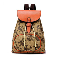 Wholesale Han Edition Leisure Female Bag Canvas Bag Backpack Middle School Students College Wind Restoring Ancient Ways Small Backpack