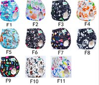 Wholesale 2016 New Design Colorful Prints Cloth Diaper Pocket Cover Reusable Nappies Machine Washable F Series