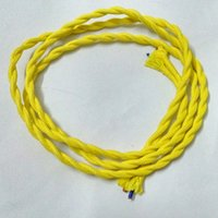 Wholesale Price m Vintage Fabric Copper Conductor Eletrical Wire Yellow Color X0 mm