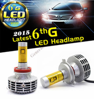 Wholesale H4 LED Headlight Auto Car Conversion Kit White Bulbs Lamp K K LM For Automobiles