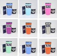 Wholesale 10 Colors oz YETI Rambler Tumbler Cup Purple Pink Light Blue Orange Light Green Stainless Steel Tumbler Mug