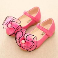 Wholesale Baby Girls Dress Shoes Kids Footwear Girl Shoes Kids Leather Shoes Girls Dress Shoes Korean Flower Casual Children Shoes SDB1084