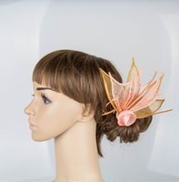 artistic materials - 17 colors artistic sinamay material fascinator headpiece cocktail headwear bar hat suit for all season MYQ021