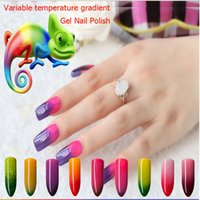 Wholesale 10pcs Fashion Gelish Nail Variable temperature gradient Gel Nail Polish Art Decoration Nails Nail Lacquer Nail Art Salon Gel colors