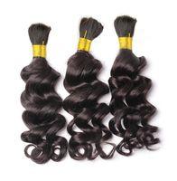 Wholesale Loose Deep Wave Human Braiding Hair Bulk No Weft Crochet Braids with Curly Human Hair for Micro Braids Curly Bulk Braiding Hair
