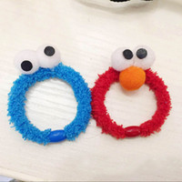 adult baby stuff - New Seam Street Elmo Hairbands Children Kids Baby Adult Cosplay Cartoon Plush Stuffed Hair Rings Dress Up Toys XMAS Gifts HN H02