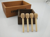 Wholesale 8 cm S Wooden Honey Spoon Rod Dippers honey stir stick kitchen tool