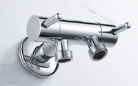 angle control valve - Brass single inlet double outlet double control bidet valve Bathroom Accessories Three way Angle Valve BD234