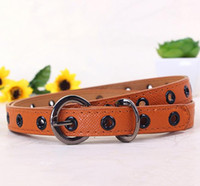 Wholesale kids belt leather straps with needle buckle cute children pin buckle leather beltsfashion design belt buckles for boy and girl