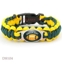 bay gifts - Infinity Love GREEN BAY State Football Paracord Sports Team Bracelet Survaval Parachute Rope Bracelet Outdoor Camping Bangles Drop Shipping