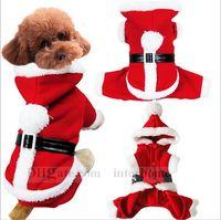 Wholesale Christmas Dog Clothes Xmas Pet Dog Costume Clothing Santa Claus Cat Pet Clothes Xmas Puppy Jacket Hoodie Xmas Dog Coat Jumper Outwear B782