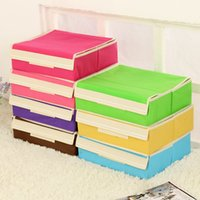 Wholesale Solid non woven storage drawers underwear storage with cover grids