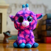 big peas - TY Beanie Stuffed Toys Peas Owl Deer Pink Purple Dragon Dragon Rabbit Stuffed Animal Soft Doll Toys Big Eyes Animal doll