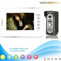 Wholesale Free DHL V70D M2 V1 new style inch screen monitor entry intercom video door phone for villa