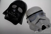 Wholesale 2 Color Halloween Festival horror mask Star Wars the Darth vader mask Strom Trooper darth vader mask Party Mask pvc cosplay mask B246