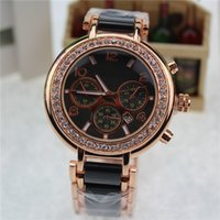 analog suit - Fashion Luxury Calendar watch watchband glue suit Mens Women s Quartz Watch Luxury Crystal Diamond Modern Stylish Women s Watch Free Shippin