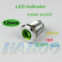 Wholesale HABOO12mm indicator light metal material single point light waterproof IP67 mini LED indiactor V V V V V