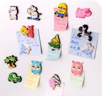 Wholesale 2016 New Cartoon stereo resin magnetic refrigerator magnet Cute animals colorful sticker for decoration fridge and furnitur