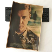 beautiful movie poster - 74th oscar movie A Beautiful Mind paper Poster wall s wall sticker