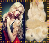 Cheap Virgin Brazilian Hair Best Bleach Blonde Double weft