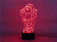 Wholesale Christmas Santa Claus D Night Light Table Lamp Action Figures Toys LED Color Changing Flash Xmas Birthday Decoration Toy Gift DHL free