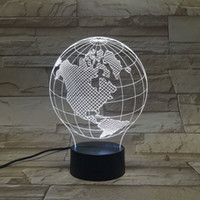 Round angels globe - America Globe D Visual Perspective Fashion Modeling Lamp Light Colorful Lights Globes Christmas gift led light lamp