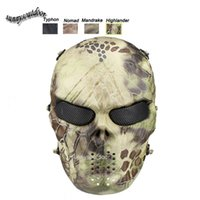 Wholesale Airsoft Equipment Outdoor Shooting Sports Face Protection Gear Full Face Tactical Airsoft Camouflage Gost Skull Mask