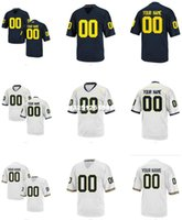 michigan - Men s Women Youth Kids Michigan Wolverines Personalized Customized College Football jersey White Navy Blue Top Quality Drop Shipping jerseys