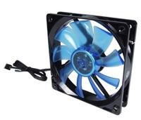GELID azul de fondo LED nanoflux luminosa que lleva 12cm PWM de baja velocidad del perfil ventilador silencioso de 12 PL (azul) para la caja de la computadora