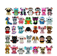 beanie boos cat - Hot Sell Designs Ty Beanie Boos Plush Stuffed Toys cm Big Eyes Animals Soft Dolls for Kids Birthday Gifts ty toys K8205 BJ