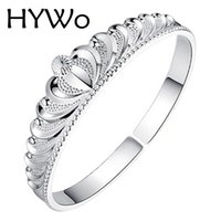 Wholesale HYWo sterling silver bracelet fine silver crown drive opening bracelet for women factory direct gift