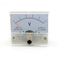 Оптово-5V DC Аналоговый Вольт Напряжение метр панели Вольтметр Gauge 0-5В 85C1 Белый Voltimetro цифровой Для образования домашнего использования