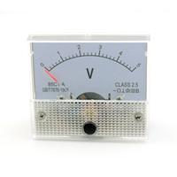 analog voltage panel meter - V DC Analog Volt Voltage Panel Meter Voltmeter Gauge V C1 White Voltimetro Digital For Education Home Use