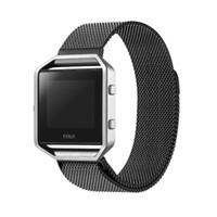 El más reciente de eslabones de acero inoxidable Pulsera Correa Milanese bucle de Fitbit Blaze perseguidor elegante reloj de la aptitud banda