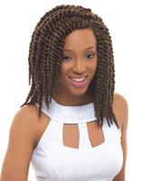 Wholesale Havana Mambo Twist Crochet Braid Hair g pack Synthetic Marley senegalese Twists Braiding Hair Extension