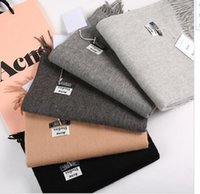 best scarf men - ACNE Studios Echarpe Luxury Brand Scarf Unisex Female Male Best Quality Wool Cashmere Scarf Pashmina Tassels Women Men Wrap