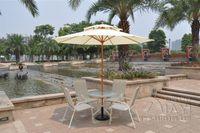 Wholesale 2 meter steel iron duplex outdoor beach sun umbrella patio parasol sunshade garden furniture cover no base