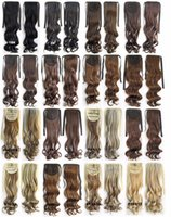 Wholesale g quot cm Women Long Wave Curly Synthetic Hair Ponytail Ribbon Pony Tail Hair Extensions Hair Piece