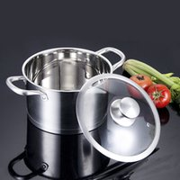 Wholesale Quality Stockpots CM Kitchen Cooking Stainless Steel Saucepan Induction Cooker Pan Gas Lpg Burner Cooker Boiler