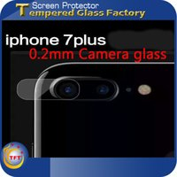Wholesale Screen Tempered Glass Lens - Tempered Glass Camera Lens For Iphone7 7plus 9H Hardness High Quality 0.2mm Screen Protector Film Anti-Scratch New Arrivel Factory Price