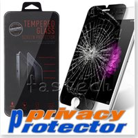 Wholesale Privacy Tempered Glass For iPhone quot S plus S Screen Protector LCD Anti Spy Film Screen Guard Cover Shield samsung galaxy S6 Note5